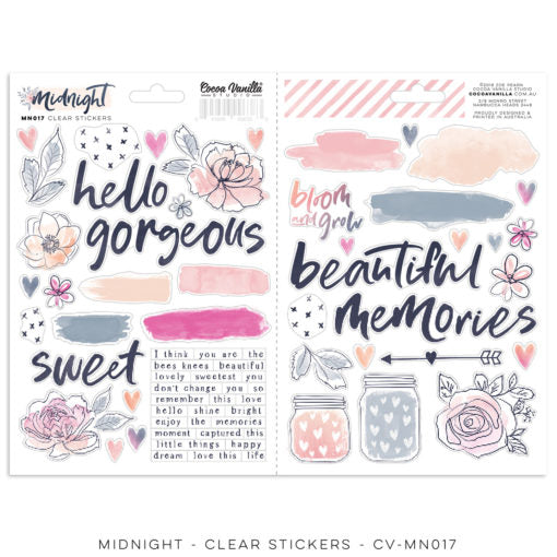 CVS Midnight clear stickers