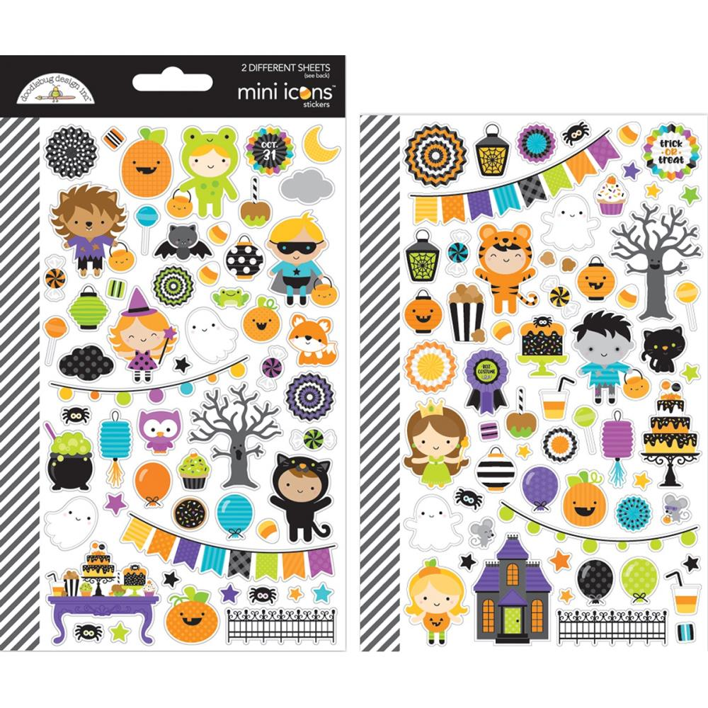 Doodlebug Pumpkin party mini icon stickers