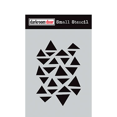 Darkroom Door arty triangles stencil (4.5x6)