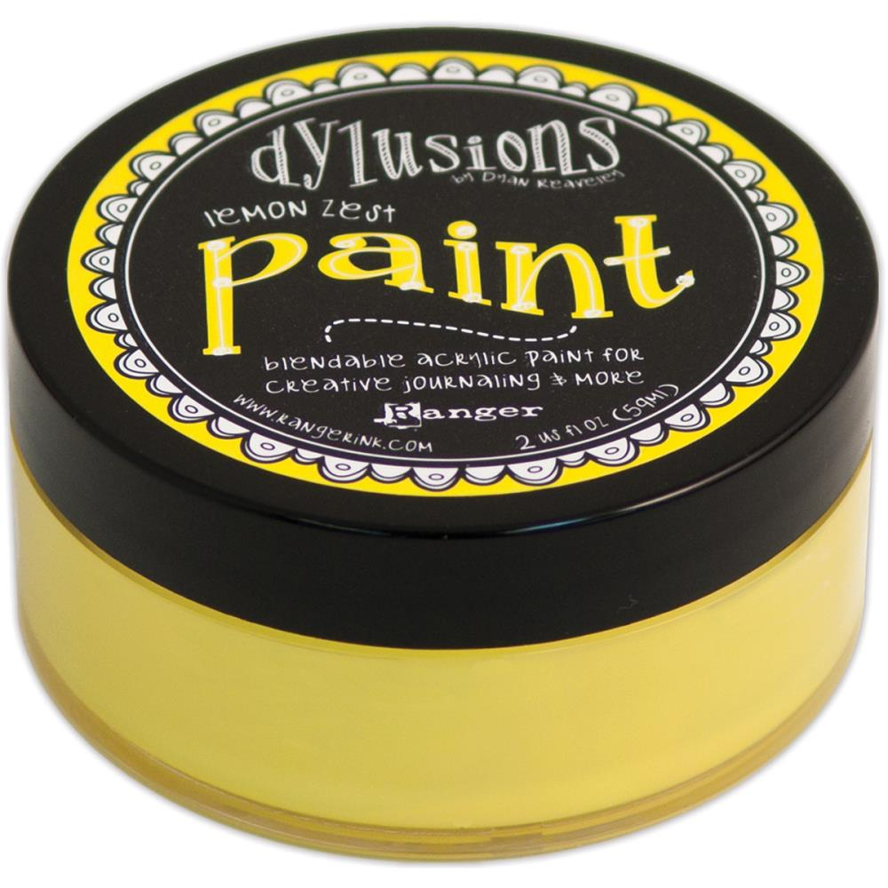Dylusions lemon zest acrylic paint 2oz