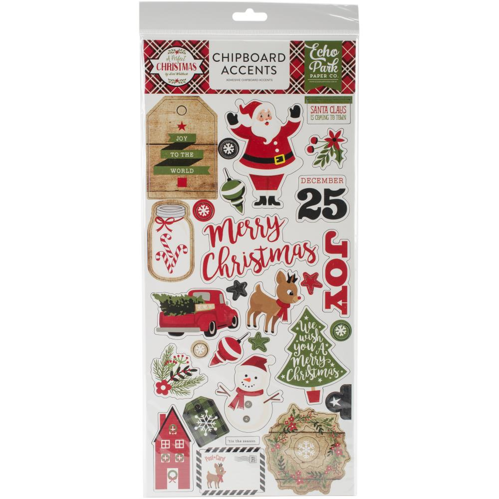 Echo Park 'A perfect Christmas' chipboard stickers