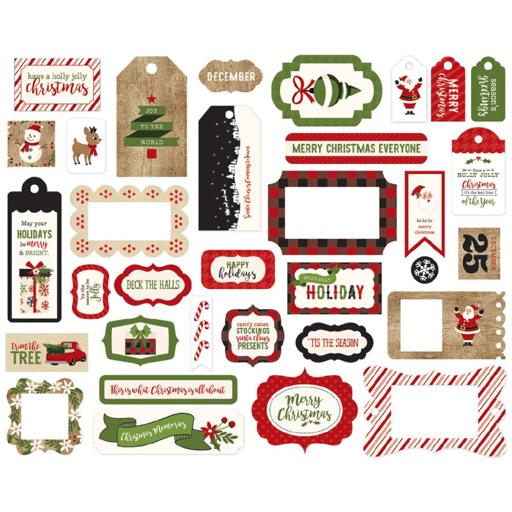 Echo Park 'A perfect Christmas' frames & tags diecuts