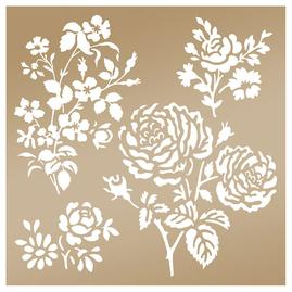 Couture Creations secret garden stencil (8x8in)