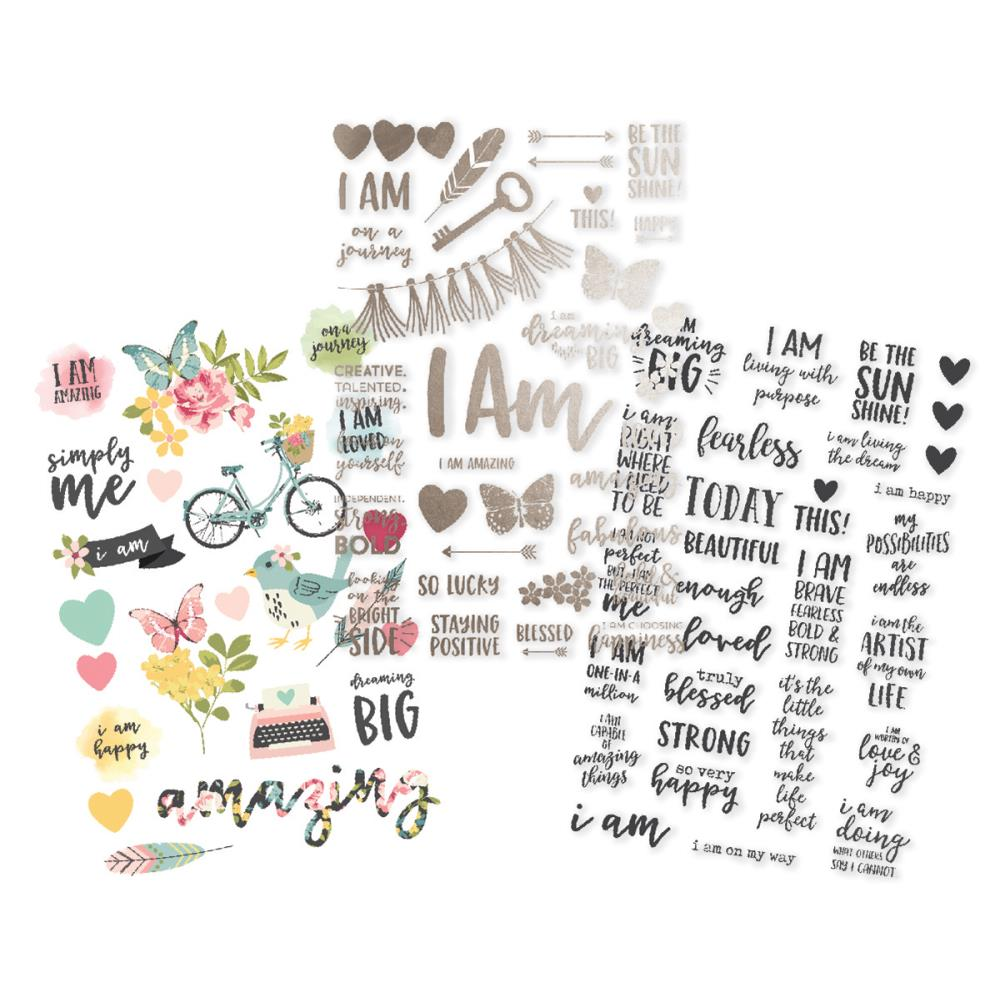 Simple Stories 'I am' clear stickers (3)