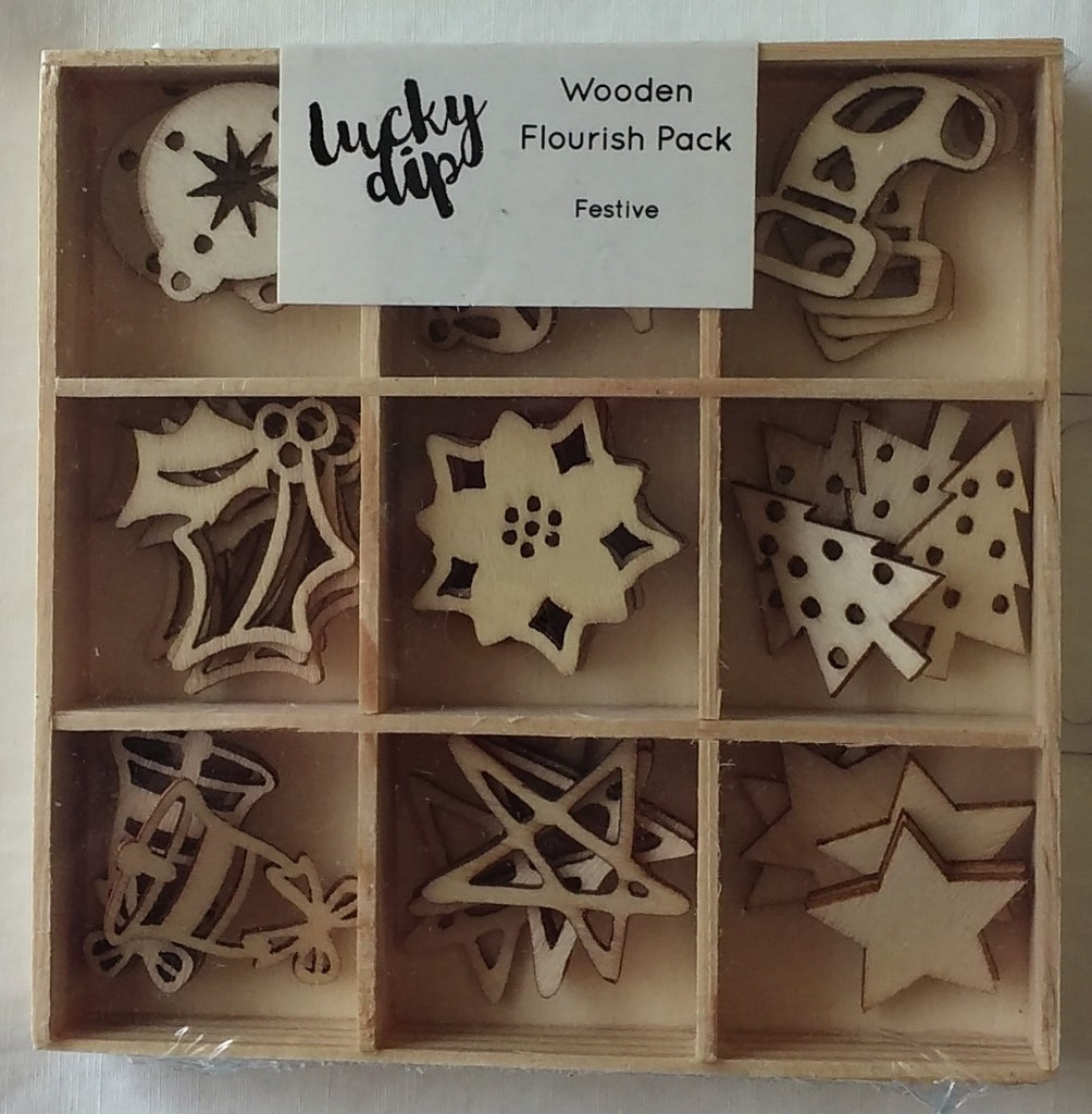 Kaisercraft festive wood veneer (45 pieces)