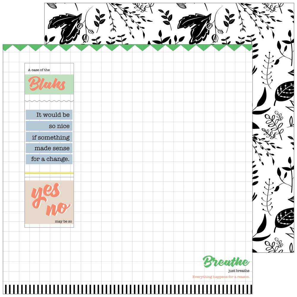 PFS 'A case of the blahs' chaos ds patterned paper