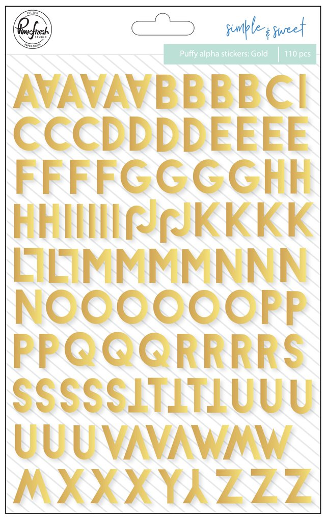 PFS puffy gold alphabet stickers
