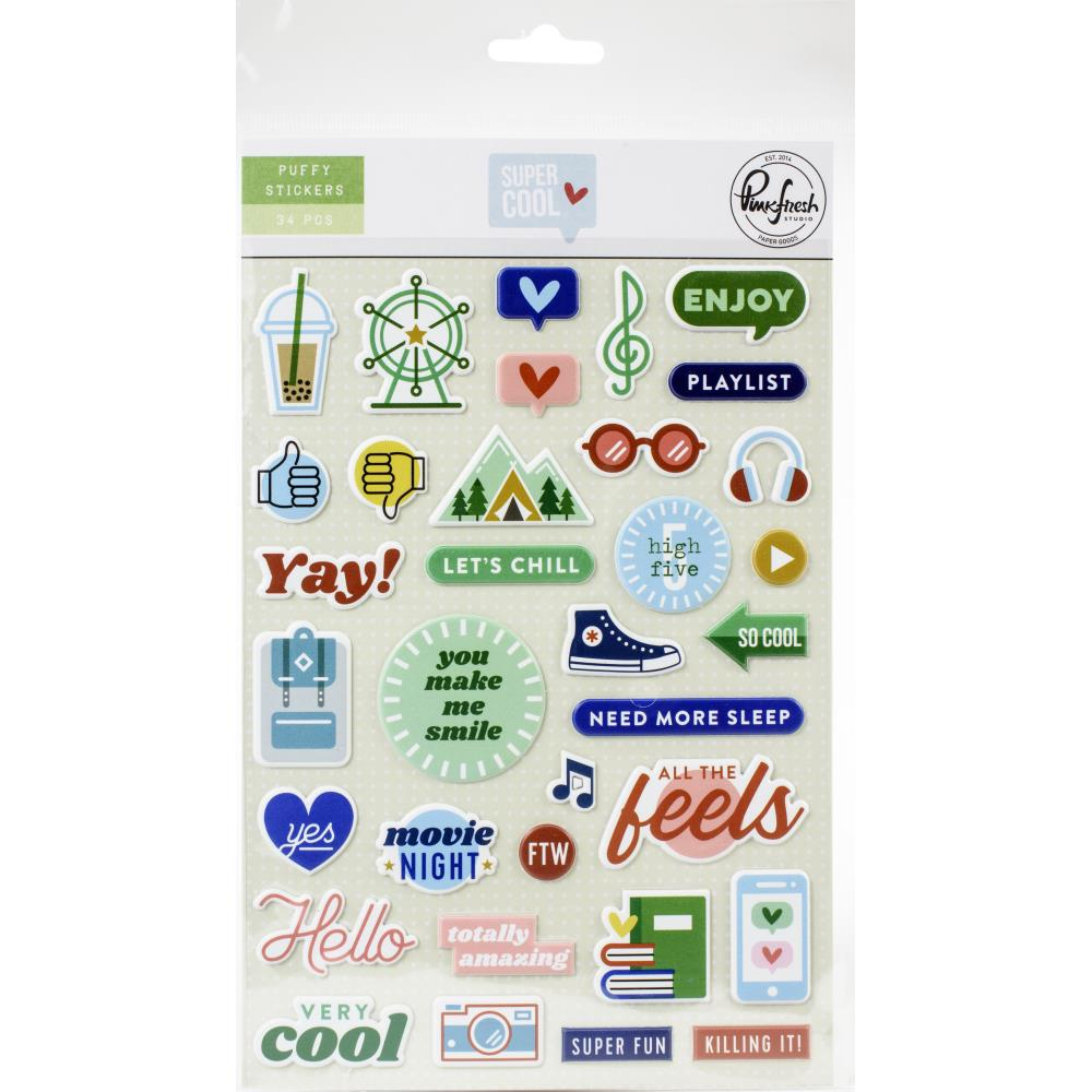 PFS 'Super cool' puffy stickers