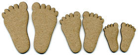 Scrapfx chipboard feet (3 pairs)