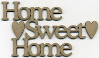 Scrapfx 'home sweet home' chipboard word