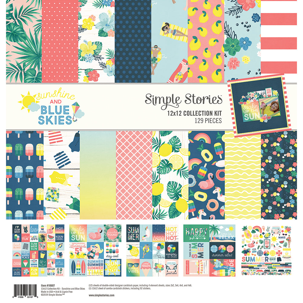 Simple Stories Sunshine and blue skies collection pack