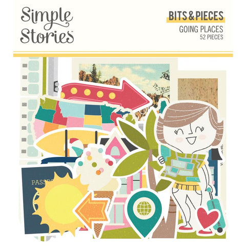 Simple Stories 'Going places' diecuts