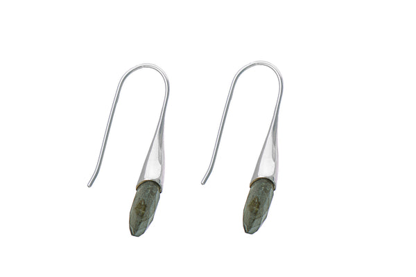 Handmade Designer Jaipur Sterling Silver Pear Drop Stud Earrings - THE JAIPUR COMPANY