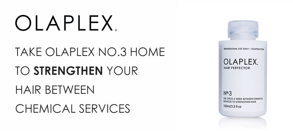 Take Olaplex No. 3 home to strengthen hair between chemical services