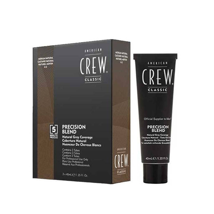 American Crew Precision Blend Hair Dye 3 x 40mL - Medium Natural