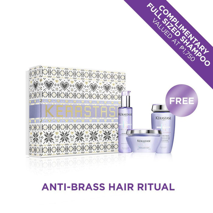 Kérastase Blond Absolu Anti-Brass Hair Holiday Gift Set with FREE Full Size Purple Shampoo