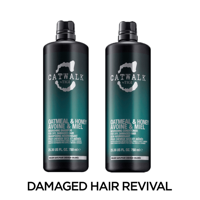 Catwalk by TIGI Oatmeal & Honey Shampoo & Conditioner Set: For Dry, Damaged Hair