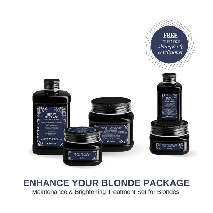 HairMNL Davines Heart of Glass Maintenance & Brightening Treatment Set with FREE Travel-Size Shampoo & Conditioner