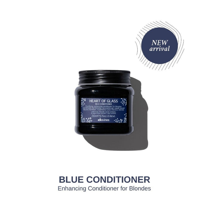 HairMNL Davines Heart of Glass Rich Conditioner: Enhancing Blue Conditioner for Blonde Hair 250ml
