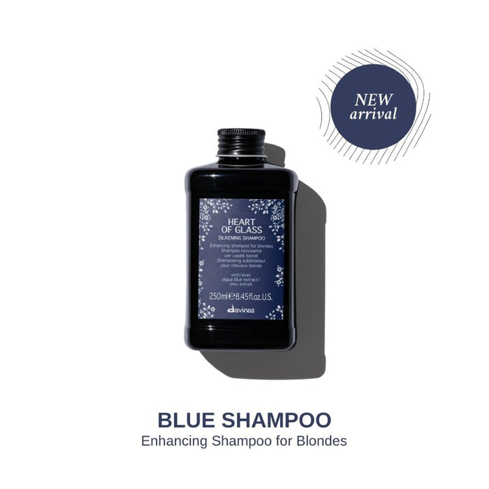 Davines Heart of Glass Silkening Shampoo: Enhancing Blue Shampoo for Blonde Hair 250ml