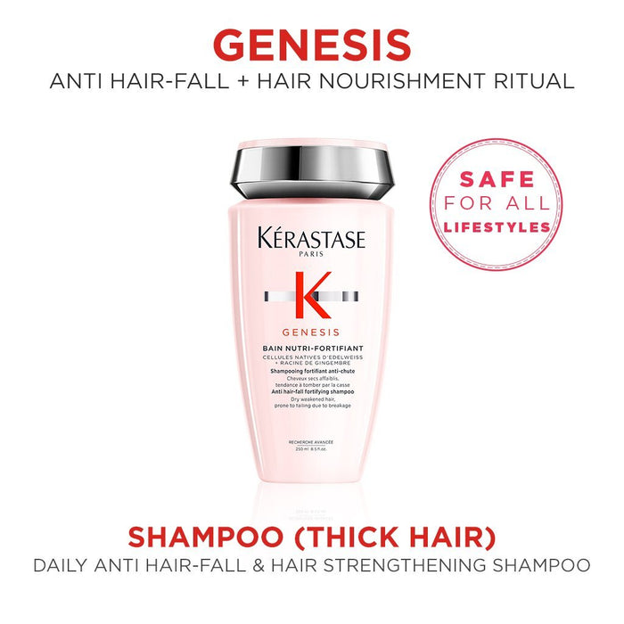 Kérastase Genesis Anti Hair-Fall Fortifying Shampoo for Thick Hair 250mL