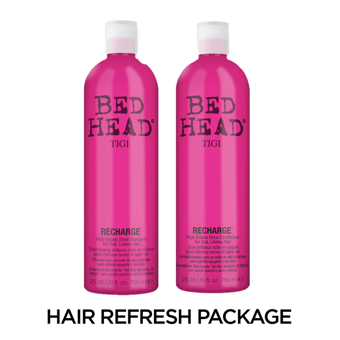 Bed Head by TIGI Recharge: High Octane Shine Shampoo and Conditioner Set