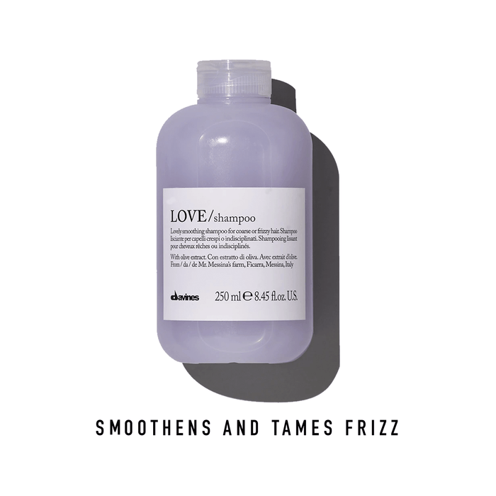 Davines LOVE Shampoo: Lovely Smoothing Shampoo for Coarse or Frizzy Hair
