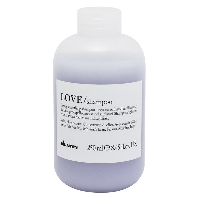 Davines Essentials LOVE Shampoo: Lovely Smoothing Shampoo for Coarse or Frizzy Hair
