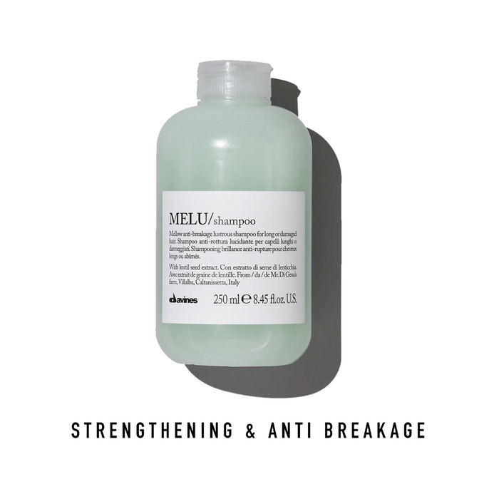 Davines MELU Shampoo: Mellow Anti-Breakage Lustrous Shampoo for Long or Damaged Hair