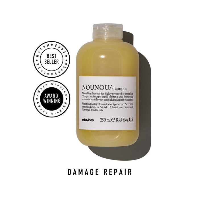 Davines NOUNOU Shampoo: Nourishing Shampoo for Highly Processed or Brittle Hair