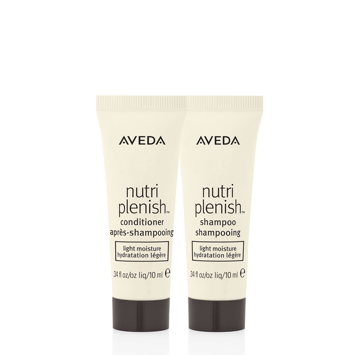 HairMNL AVEDA Travel-Sized Nutriplenish Shampoo & Conditioner – Light 10ml