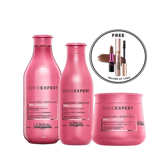 L'Oréal Serie Expert Pro Longer Set with Free Make Up Set