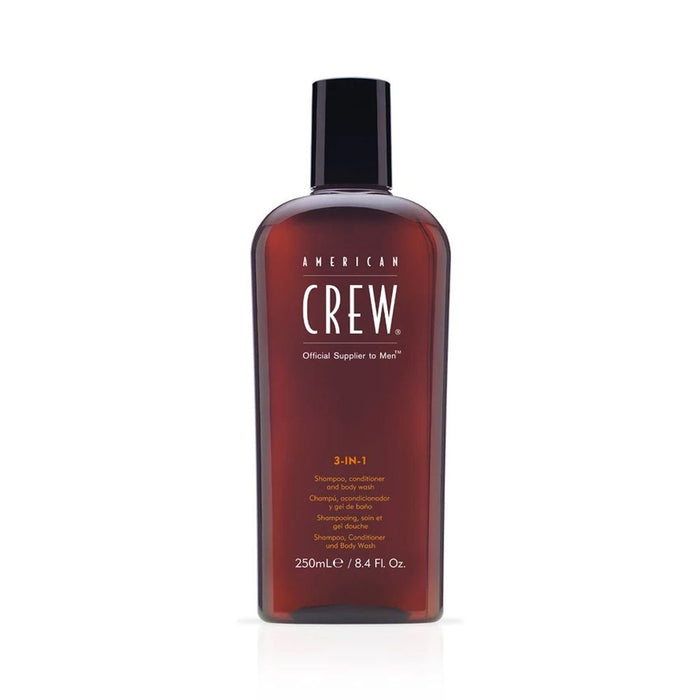 American Crew 3 in 1 Shampoo Conditioner and Body Wash 250ml