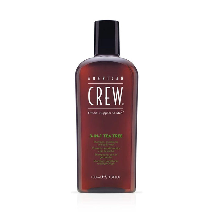 American Crew 3 in 1 Tea Tree Shampoo Conditioner and Body Wash 250ml