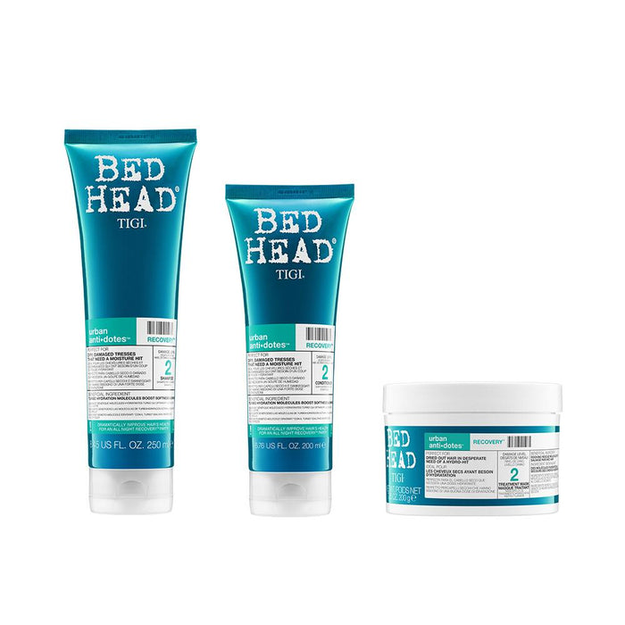 Buy Bed Head by TIGI Recovery Mask 200g with Shampoo 250ml and Conditioner 200ml on HairMNL