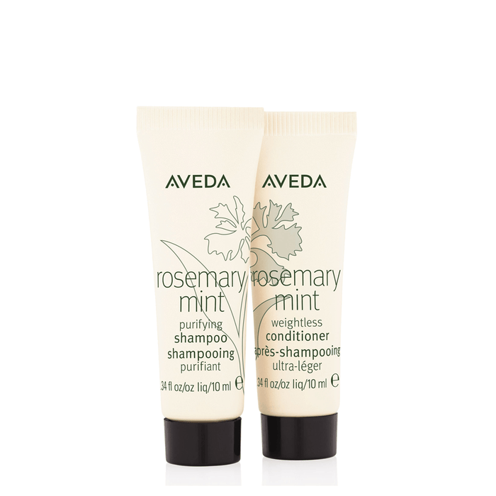 HairMNL AVEDA Travel-Sized Rosemary Mint Shampoo & Conditioner 10ml