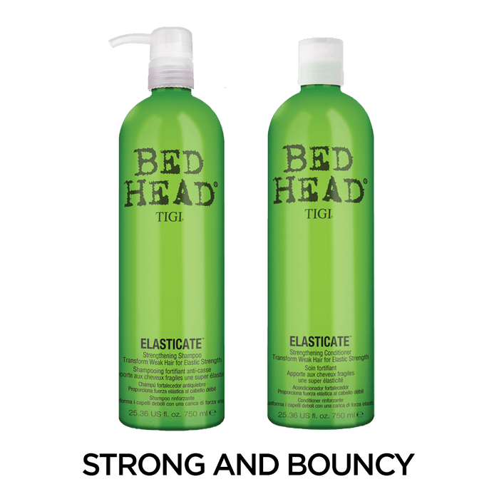Bed Head by TIGI Elasticate Supercharged Shampoo 750ml and Conditioner 750ml Set