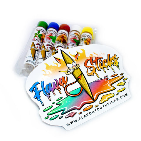 5 Pack Sampler Small Tubes With Flavasticks Sticker