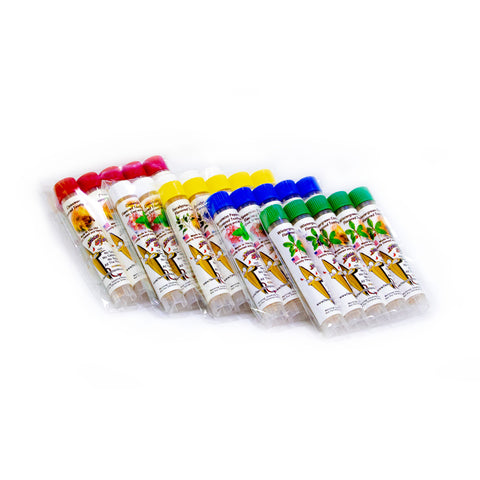 5 Packs of 5 Tubes Flavored Toothpick Ultimate Sampler Pack Small Tubes