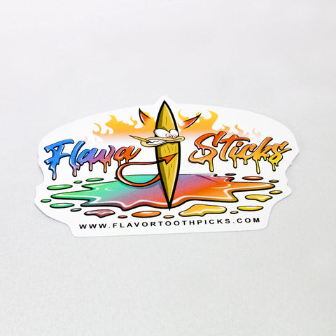 "Flavasticks Flavored Toothpicks 3"" x 3"" Stickers"