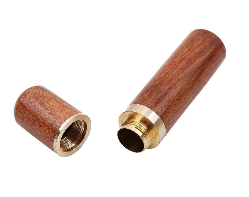 Portable Toothpick Holder Key-Chain Wood and Metal Available In 2 Wood Colors