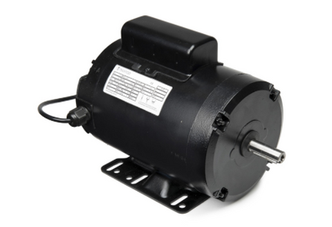 "Techtop Imperial Frame Single Phase Motor 0.75kw, 1420rpm, 240v 50Hz, 56 Frame, 5/8"" Shaft, IP55, 2 Metre Lead and Plug, TEFC - Motor Gearbox Products"