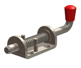 Spring Bolt Zinc Plated 13mm with Red Knob, Pin Retaining - Motor Gearbox Products