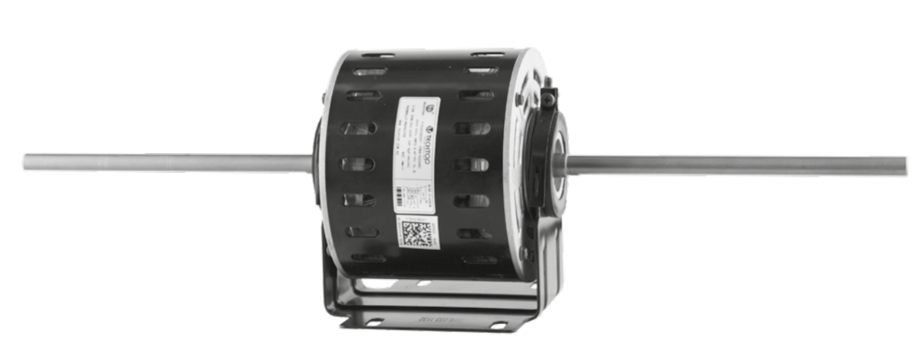 Double Shaft Fan Motor 315W 4P 240V PSC FR48 3 speed vented, resilient cradle - Motor Gearbox Products