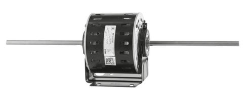 Double Shaft Fan Motor 750W 4P 240V PSC FR48 3 speed vented, resilient cradle - Motor Gearbox Products