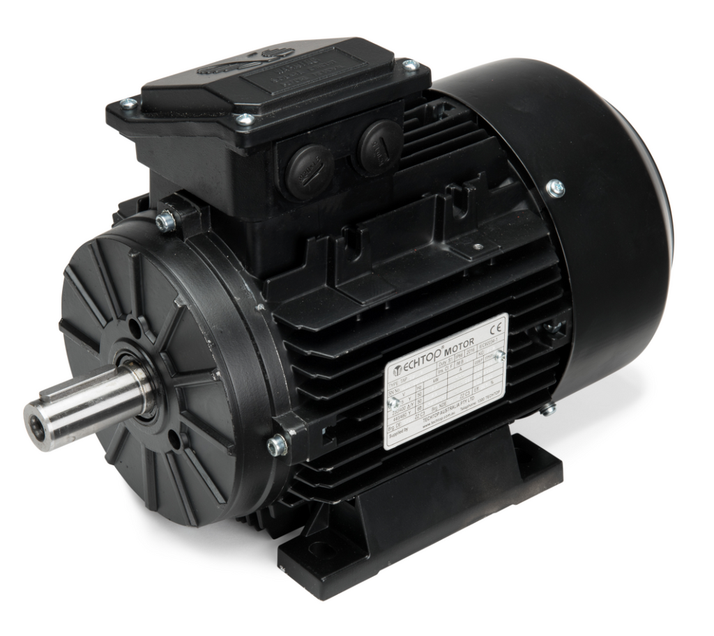 IP66 Powder Coated Three Phase Electric Motor 1.1kW 2P (2900rpm) 415v B3 Foot Mounted TAI80B-2 Aluminium High Efficiency
