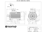 Three Phase Electric Motor 200kW 2P (2985rpm) 415v B3 Foot Mounted TCI315LB-2 IP55 Cast Iron - Motor Gearbox Products