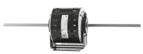 Double Shaft Fan Motor 600W 4P 240V PSC FR48 3 speed vented, resilient cradle - Motor Gearbox Products