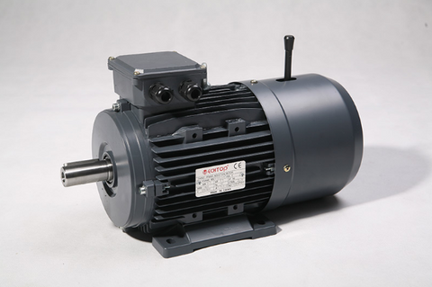Three Phase Brake Motor 5.5kW 4P (1460rpm) 415v B3 Foot Mounted D132S-4 IP55 Aluminium - Motor Gearbox Products