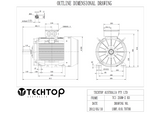 Three Phase Electric Motor 55kW 2P (2970rpm) 415v B3 Foot Mounted TCI250M-2 IP55 Cast Iron - Motor Gearbox Products